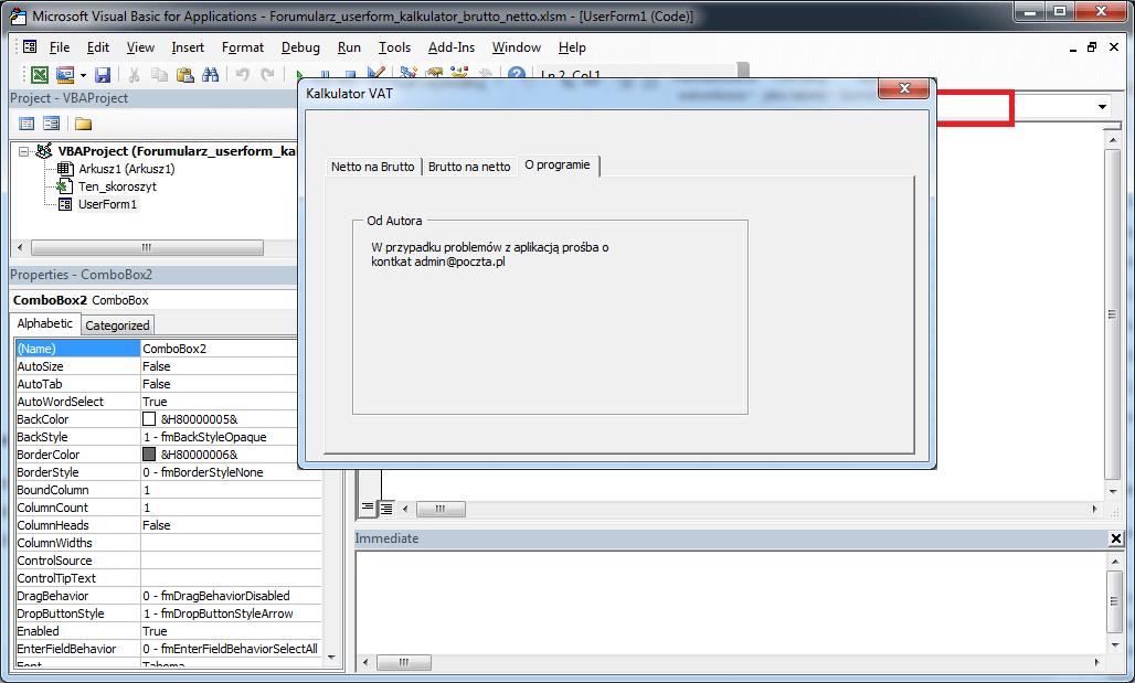Kurs Excel VBA - Pole Kombi ComboBox