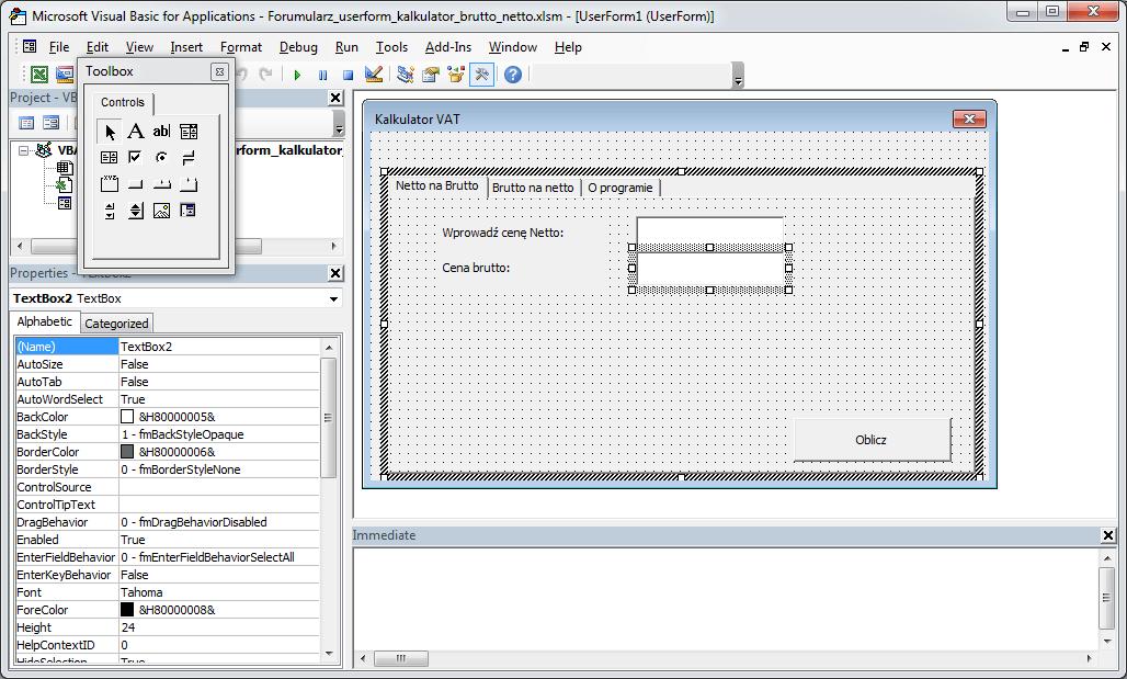 Kurs Excel VBA - Formularz UserForm strony MultiPage